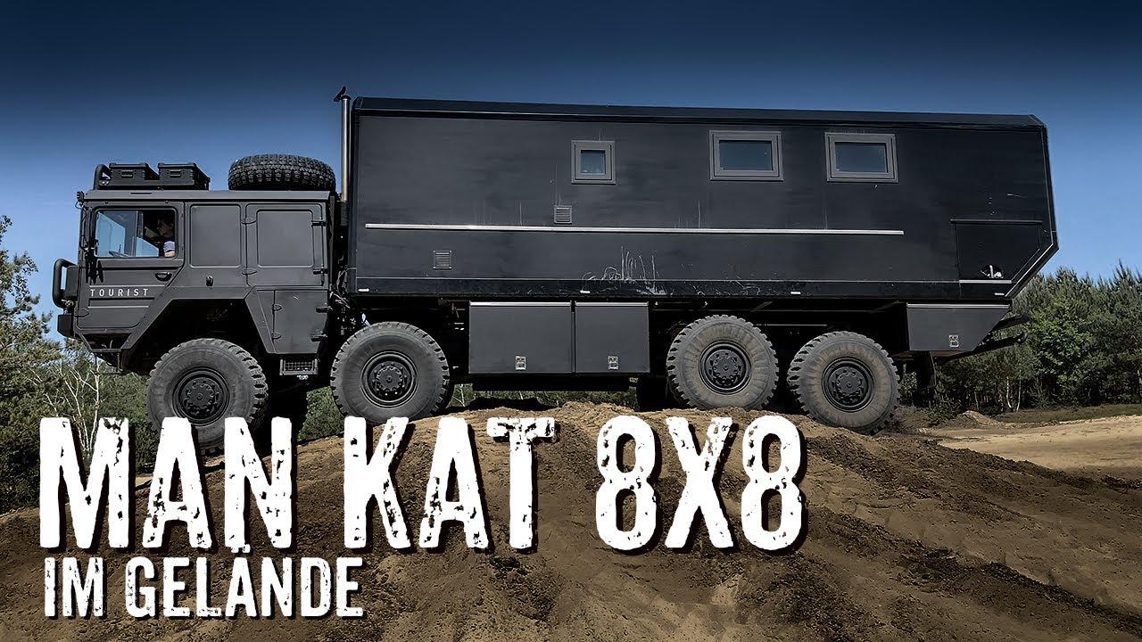 MAN KAT 8x8 Weltreisefahrzeug im Gelände [256] - YouTube