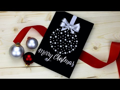 Fancy DIY Christmas card! super easy and pretty tutorial 😍