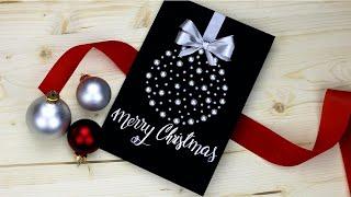 Fancy DIY Christmas card! super easy and pretty tutorial 😍