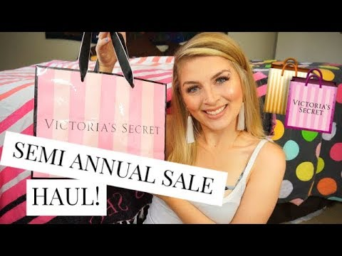 4f27c9c394 HUGE Victoria s Secret SEMI-ANNUAL SALE HAUL! Try-On Haul! - YouTube