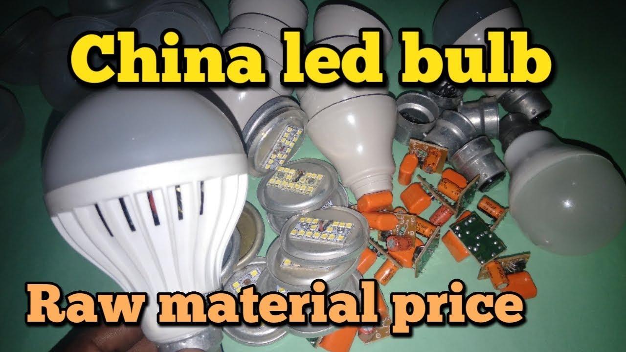 China led bulb raw material price in delhi