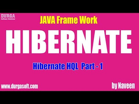 Hibernate tutorial | Hibernate HQL Part - 1 by Naveen