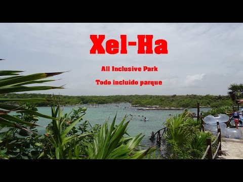 Xel-Ha Park, Riviera Maya, Mexico, visit all the park in 2 minutes HD