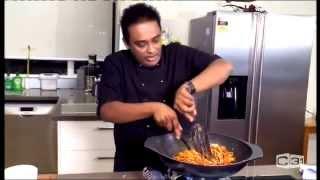Prawn Stir Fry - chef happyK at Culinary Corner - Sri Lanka Morning show