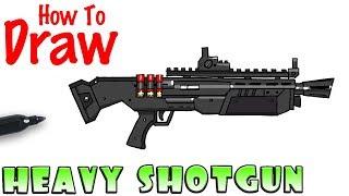 How to Draw the Heavy Shotgun | Fortnite