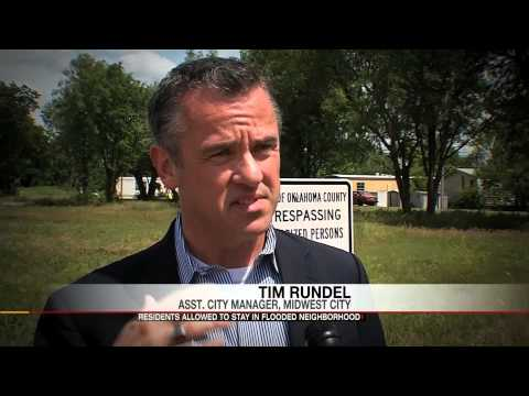 Flooded trailer park owner fights with city over water