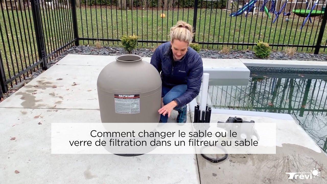 Comment changer le sable ou le verre de filtration dans un - Changer le sable d un filtre piscine ...