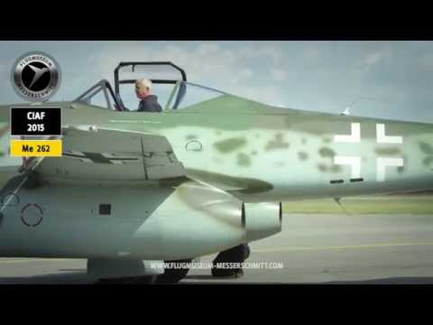 Me 262 / Jet Ground Check CIAF 2015 / jetwash with fire like starting the original Jumo 004