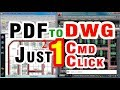 Convert PDF To DWG DXF AutoCAD Drawing | Easiest  | Free Autocad Online Training Classes