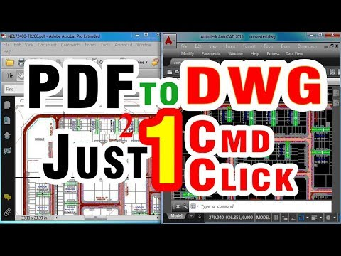 Convert PDF To DWG Editable AutoCAD Drawing | Auto cad Software Classes