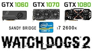 Відеокарти Відеокарта GTX 1070 1060 проти моніторів 1080 + и7 2600к Дивитися собак 2 (ультра налаштування)