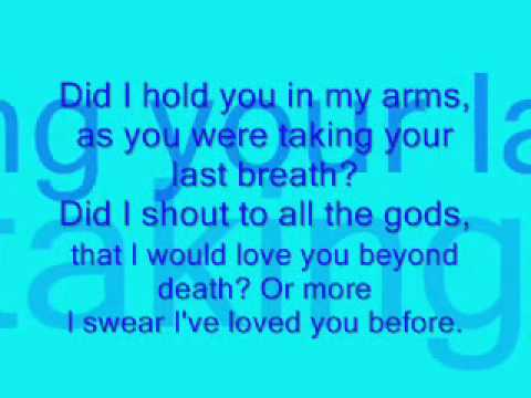 I've Loved You Before Lyrics
