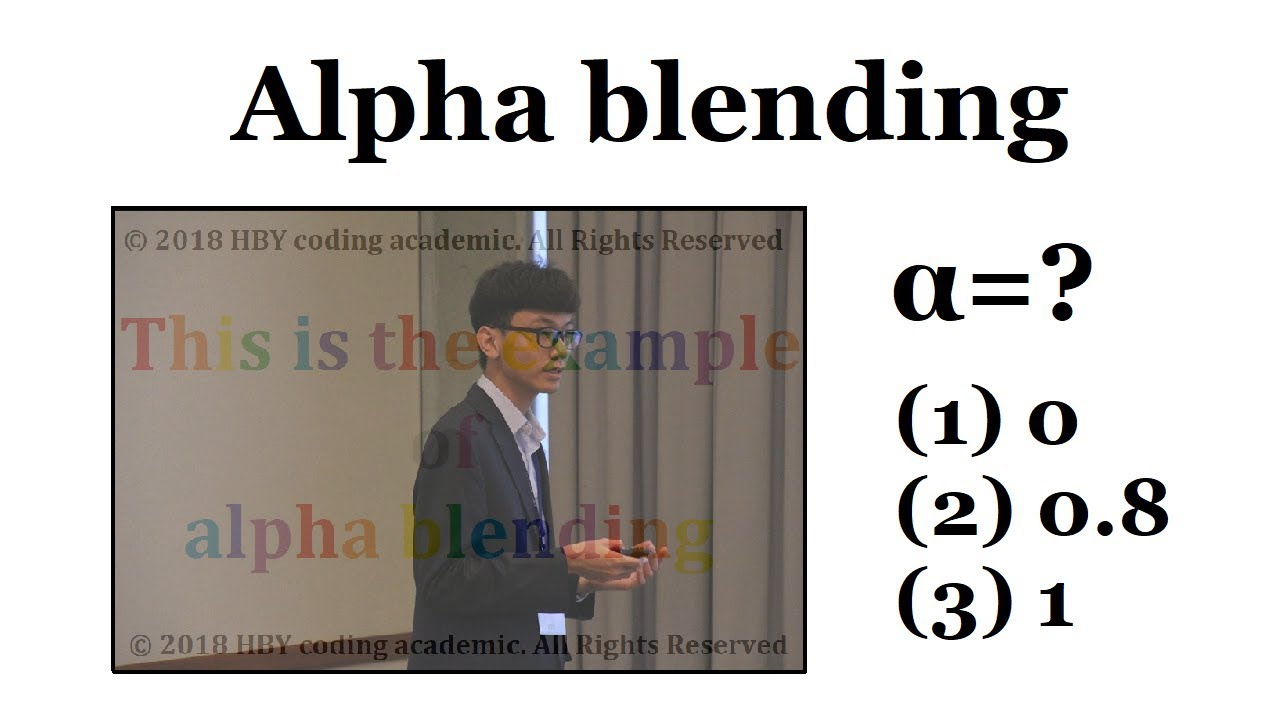 A simple blending technique - alpha blending | Image Processing #10 | HBY  coding academic