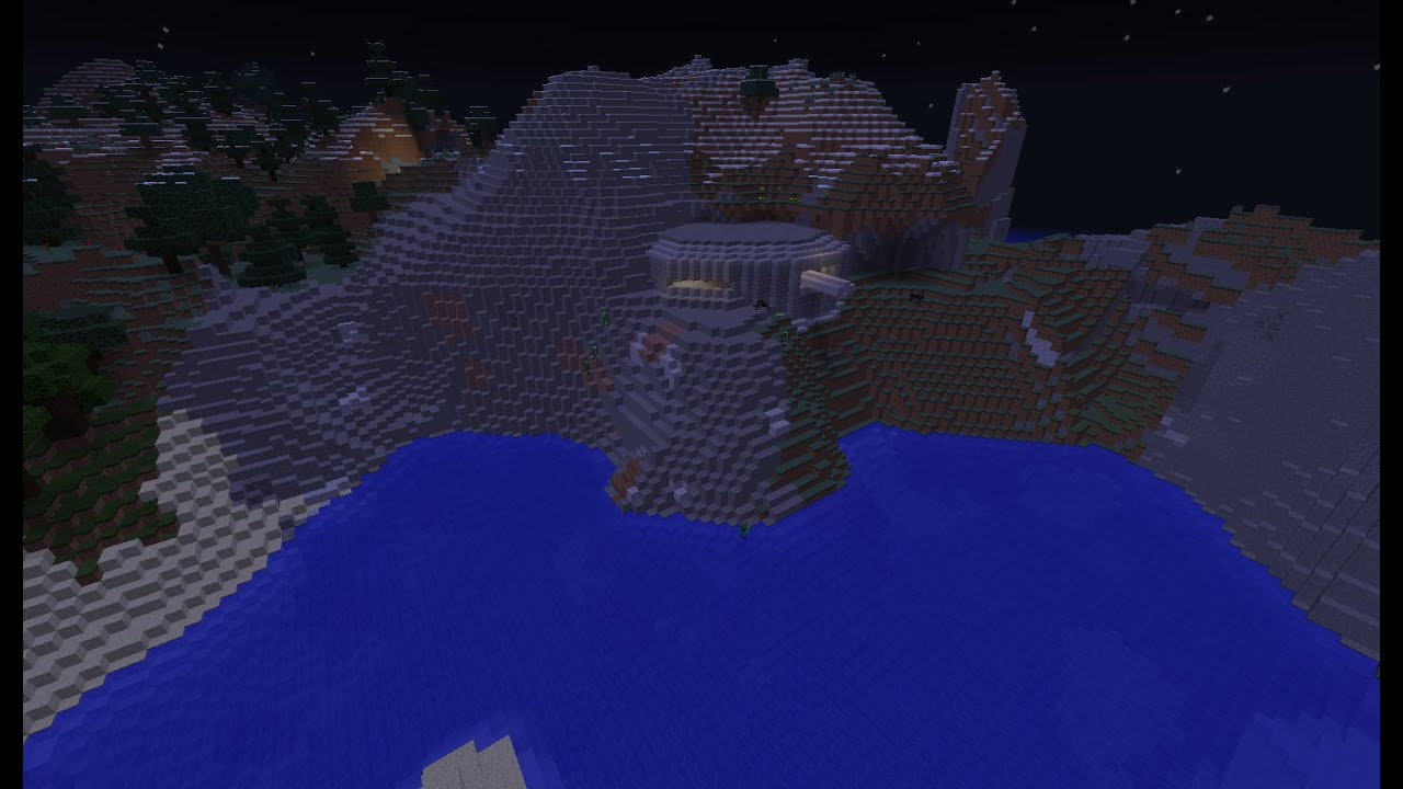 Minecraft seed, coastal Bunker Build