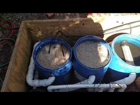 18000 gal pond filtration system