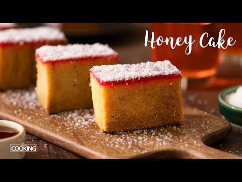 Eggless Honey Cake | Bakery Style Honey Cake