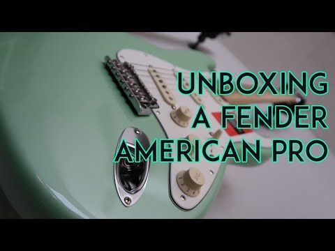 unboxing a fender limited edition american professional stratocaster electric guitar that case. Black Bedroom Furniture Sets. Home Design Ideas