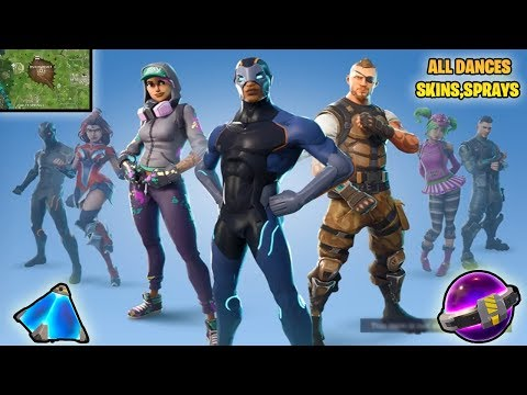ALL *NEW* SEASON 4 SKINS, DANCES, DUSTY DEPOT *DESTROYED* MAGIC STONE! (Fortnite Battle Royale)