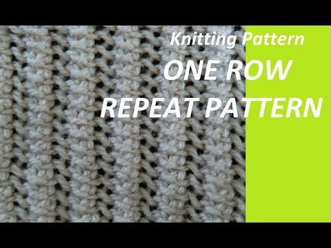 Knitting Pattern * very easy one row repeat pattern *