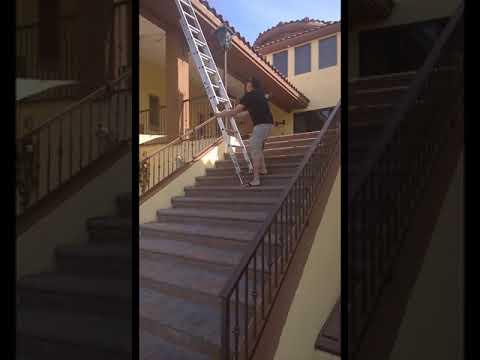 Xtenda Leg, Ladder Leveler IN USE