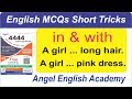 English MCQs Short Trick-64: Preposition 'in & with' with Body Parts & D...