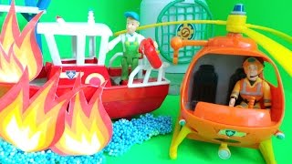 Firefighter Sam Wallaby 1 Rescue Fireman Sam and Elvis from the Titan Boat Fire