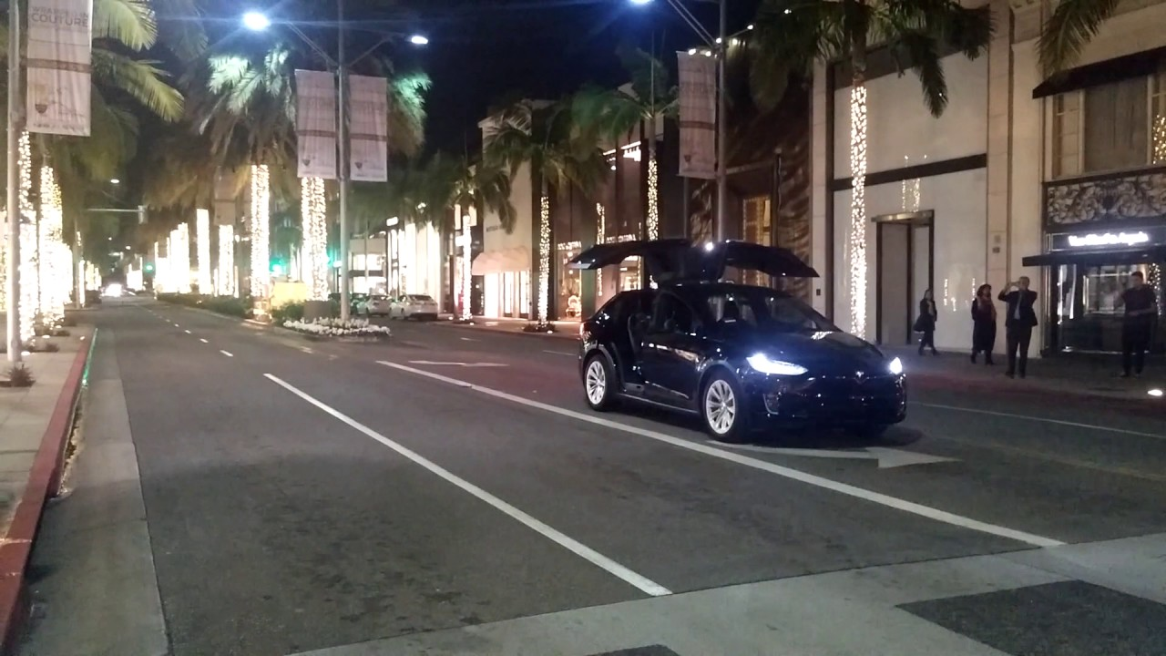 Tesla Car Does Holiday Easter Egg Dance On Rodeo Drive Youtube