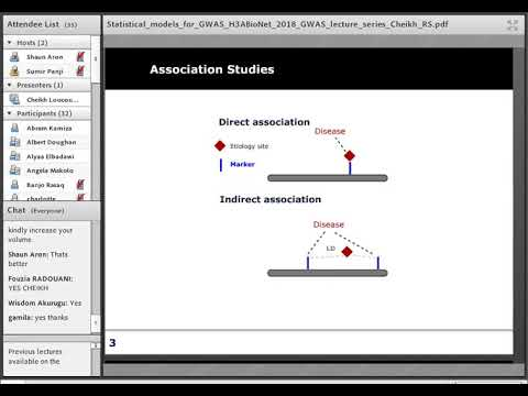 Statistical models used for GWAS (Lecture 7)