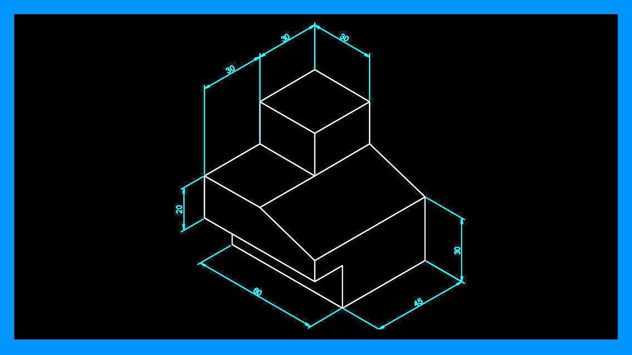 Autocad - Acotar en isométrico. Cotas en isométrico en Autocad. | Saber Programas
