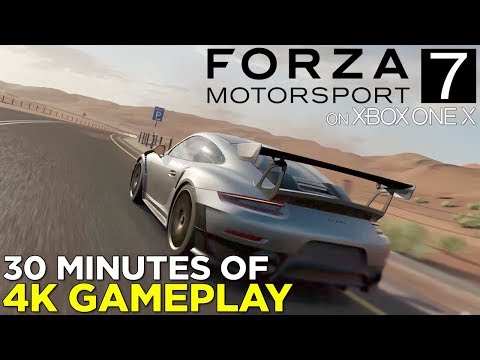 Forza Motorsport 7 on XBOX ONE X — 30 Minutes of 4K Gameplay!