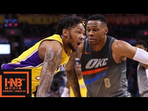 Los Angeles Lakers vs Oklahoma City Thunder Full Game Highlights / Feb 4 / 2017-18 NBA Season