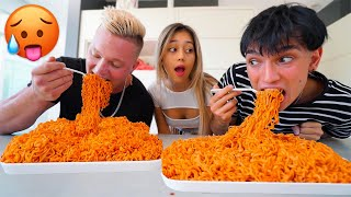 First To Finish SPICY NOODLES Wins GIRLFRIEND! (Boyfriend vs Ex-Boyfriend)