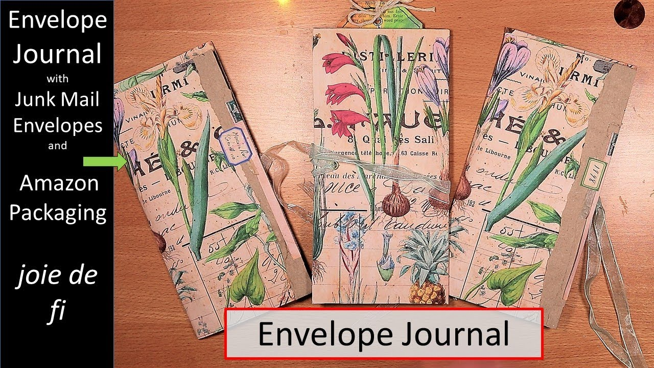ENVELOPE JOURNAL With Pockets And Ephemera Step By Step TUTORIAL