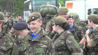Arriving at ACF camp: Otterburn 2013