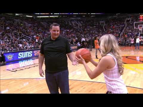 Murphy NBA Surprise Wedding Proposal on court Suns game 1/8/16