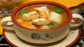 Гороховый Суп с Копченостями и Гренками.Ну, оОчень Вкусно!