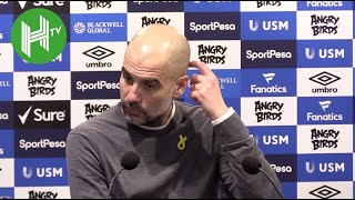Everton 0-2 Man City   Guardiola: It's better to be top but we've played one more game