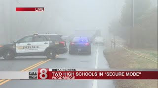 Secure modes lifted at 2 Woodbridge schools after police activity