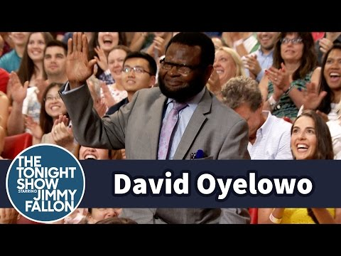 David Oyelowo's Dad Hams It Up in the Tonight Show Audience