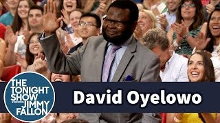 David Oyelowos Dad Hams It Up in the Tonight Show Audience