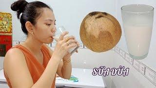 Cách làm sữa dừa đơn giản béo ngậy giải khát mùa nóng