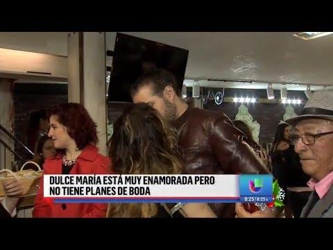 #VIDEO @DulceMaria esta muy enamorada pero sin planes de boda (DA)