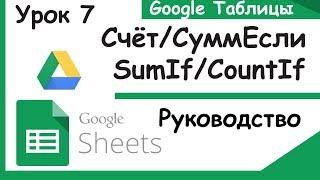 Google таблицы. Как работать с СуммЕсли(SumIf), СчётЕсли(CountIf).Урок 7.