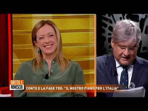 Giorgia Meloni in diretta a Dritto e Rovescio da Paolo Del Debbio su rete4, da non perdere!