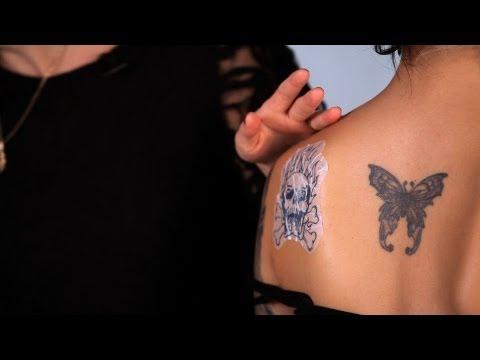 Applying Alcohol Transfer Fake Tattoo   Special FX Makeup