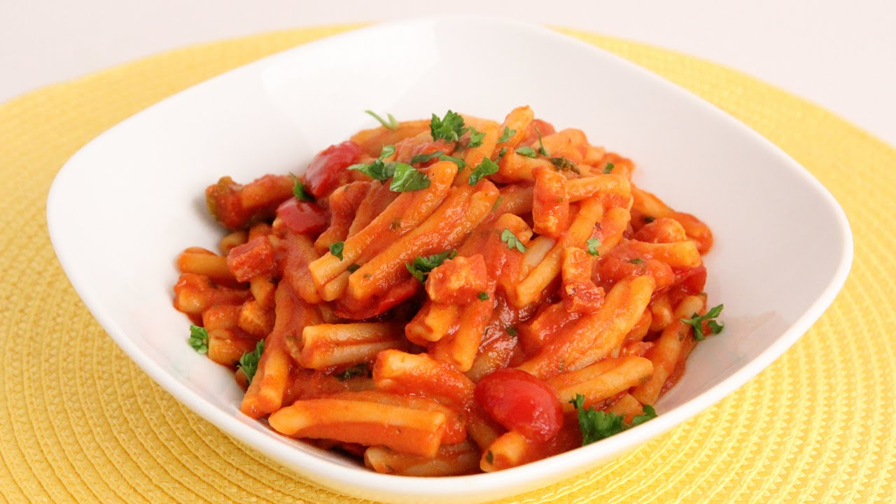 Pasta with Pancetta & Cherry Peppers Recipe