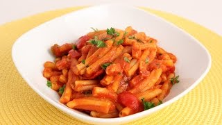 Pasta With Pancetta & Cherry Peppers Recipe - Laura Vitale - Laura In The Kitchen Episode 874