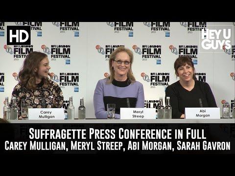 Suffragette Press Conference in Full  Meryl Streep, Carey Mulligan, Abi Morgan