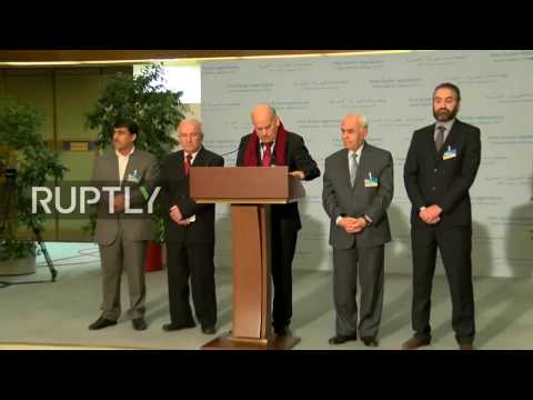 LIVE: Syria peace talks in Geneva - Stake out by Moscow platform representatives