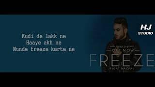 Freeze Rajat Nagpal Lyrics
